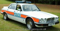 This is a 1983 Jaguar 4.2 XJ6 police car.