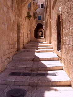 Jerusalem Alley in Israel- So much history and inspiration to soak up here....let's take a walk