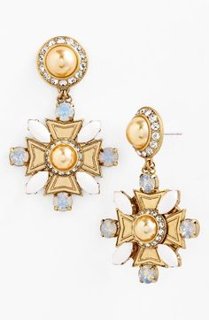 Gorgeous 'selma' drop earrings by Tory Burch