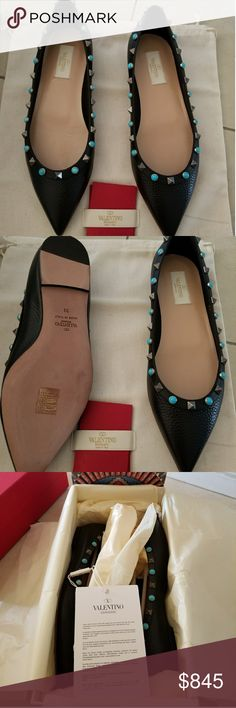 BRAND NEW  AUTHENTIC VALENTINO GARAVANI ROCKSTUD Authentic brand new valentino rockstud rolling ballerina Size: 39 Color: black  [$760 via PP] Please email: tinalilaznchick@sbcglobal.net Wechat: t3elici0us Please do contact me for further inquiry regarding pricing. Valentino Shoes Flats & Loafers