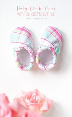 Baby Cloth Shoes with Silhouette Cut File | www.1dogwoof.com
