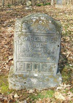 Western Kentucky Genealogy Blog: Tombstone Tuesday - Isabelle E. Hodge #genealogy