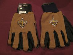 TWO (2) PAIRS OF NEW ORLEANS SAINTS, ALL PURPOSE SPORT UTILITY GLOVES #NewOrleansSaints