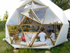 Multiespacio Mahuá Ashram * Consciencia * Laguna del Sauce Dome Structure, Bamboo Structure, Geodesic Dome Homes, Outdoor Restaurant, Dome Tent, Gnome House, Round House, Deco Furniture, Tiny House Design