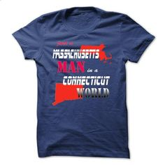 Massachusetts Man In A Connecticut World. - #tee trinken #band hoodie. CHECK PRICE => https://www.sunfrog.com/States/A-Massachusetts-Man-Live-In-Connecticut-States.html?68278
