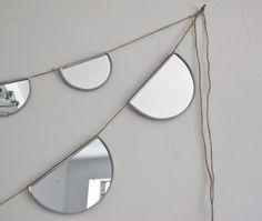 mirror garland...DIY idea? I think yes.