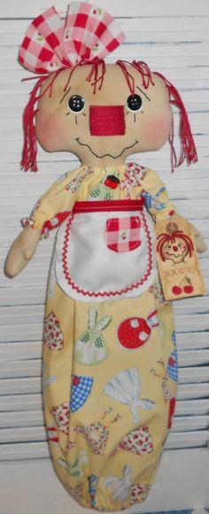 Annie Bag Holder Primitive Raggedy Ann Annie by raggedyjaynes
