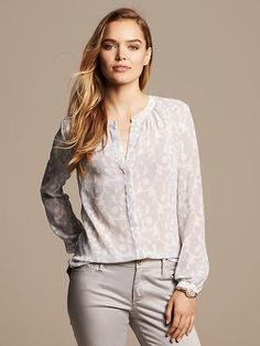 Floral Scroll Blouse Product Image