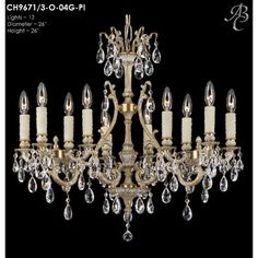 Chateau 12 Light Crystal Chandelier Finish: Empire Bronze, Crystal: Precision Crystal Oval Clear - http://chandelierspot.com/chateau-12-light-crystal-chandelier-finish-empire-bronze-crystal-precision-crystal-oval-clear-589116888/