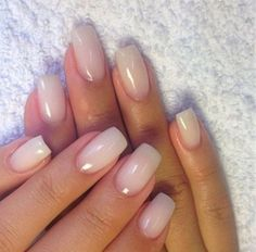 Ombre Nail Designs That You Have to Try This Summer French Ombre Nails with Gold Glitter;French Ombre Nails with Gold Glitter; Classy Acrylic Nails, Classy Nails, Gold Nails, Cute Nails, Pretty Nails, Gold Glitter, Natural Looking Acrylic Nails, Natural Color Nails, Plain Acrylic Nails