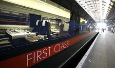 Outside looking in: the first class carriage on a train at King's Cross. Photograph: Graham Turner for the Guardian East Coast Main Line, Corporate Identity Design, British Rail, Speed Training, Neo Victorian, Rolling Stock, Weekend Plans, First Class, Train Travel
