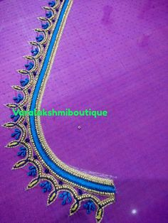 Chudi Neck Designs, Best Blouse Designs, Simple Blouse Designs, Neckline Designs, Bridal Blouse Designs, Hand Designs, Simple Designs, Aari Embroidery, Hand Work Embroidery