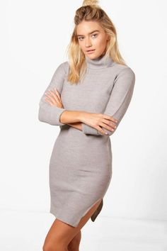 Eloise Roll Sleeve Knitted Dress
