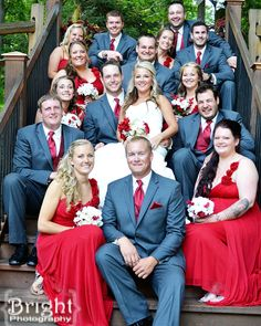 Large bridal party photos #BrightPhotography