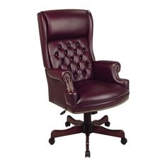 Deluxe Executive Chair in Oxblood
