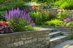 Retaining wall idea and landscaping a slope.