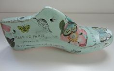 d Shoe Molding, Shoe Last, Vintage Shoes, Provence, Repurposed, Decoupage, Wood, Diy, Decorated Shoes
