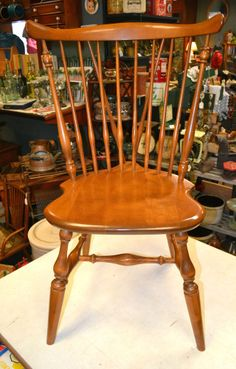Early American Chair Styles Fold Up Chairs Bunnings Ethan Allen Heirloom Fiddle Back Duxbury Side Birch Maple Diningroom Style