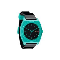 #Nixon Time Teller P Black & Teal Analog #Watch #Zumiez