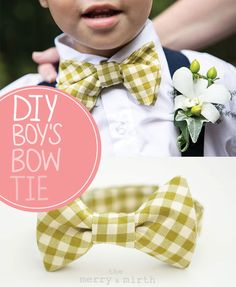 DIY Boy's Bow Tie (no pattern required) // THE MERRY & MIRTH