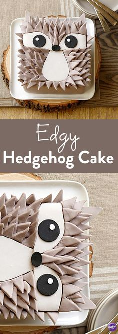 How to Make a Hedgehog Cake - Add some spikes of fun to your celebration with this fun Edgy Hedgehog Cake. He's easy to make when you follow the provided patterns and cut details from Decorator Preferred Fondant.