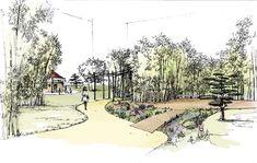 Garden design 3D drawing
