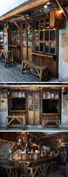 [No.41 시실리] 연낭동 빈티지 술집 인테리어 7평, 폐교 목재