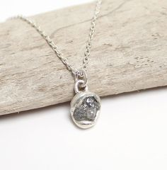 TGRDN1 - Rough diamond pendant necklace with chain link detail