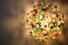recycled plastic chandelier
