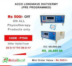 Acco Longwave Diathermy (Pre Programmed) used in physiotherapy treatement by the physio..