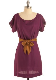 Plum-believable Dress. Upon first glance, this dress by California-based Many Belles Down so perfectly marries comfort and style, you wondered if it was too good to be true. #purple #modcloth