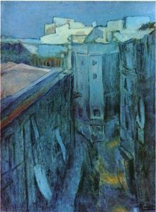 Dawn at Riera de Sant Joan, 1903 by Pablo Picasso, Blue Period. Pablo Picasso, Kunst Picasso, Art Picasso, Picasso Blue, Picasso Paintings, Henri Rousseau, Henri Matisse, Paul Gauguin, Mougins France
