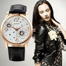 2015 moda de luxo cristal relógios Casual couro relógio de quartzo relógios de…