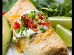 Baked Chicken Chimichangas - Lil' Luna