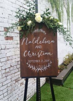 Chalkboard inspiration for the large sign - wants the leaf design and there will be a garland on top, so leave room!