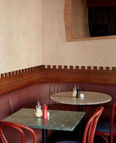 Flack Studio: яркое кафе в духе французских 1930-х • Интерьеры • Дизайн • Интерьер+Дизайн
