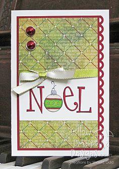 Yellow Umbrella Designs: Noel card