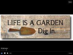 Garden sign I like!