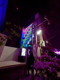 MEDIA WALL consists of an LED WALL and booth which were inspired by hanbok and juwelry, the two representative commercial goods of Chungjangro area. The LED WALL in contrast with the old context was conceived to keep Chungjangro's own characteristic while creating new memories for the visitors. By touching the controller screen of the booths in front, visitors can project their own play on the MEDIA WALL at real time using light and sound. Gwangju Biennale