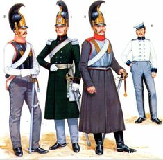 Russian cavalry of 1812. Their sausage plumes have now been replaced by tufts.