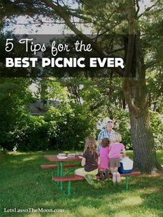 """{5 Tips for the Best Picnic Ever} There is something enchanting about picnics. They offer us a chance to """"pause"""" our lives and enjoy the laziness of summer. We live in a chaotic world. I really believe now more than ever we need to slow down and get our bare feet in the grass. They are an inexpensive and easy way to connect with your family. Do you have any additional tried & true tips?"""