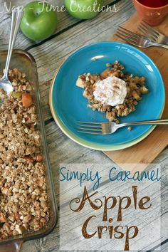 oops, jase @mjaston  I forgot to make you apple crisp this weekend, this one is caramel apple crisp just to up the ante!