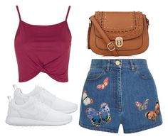"""""""Untitled #3075"""" by evalentina92 ❤ liked on Polyvore featuring Topshop, Valentino, NIKE and New Look"""