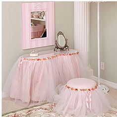 Image detail for -girls pink ballerina vanity bedroom nursery decor table