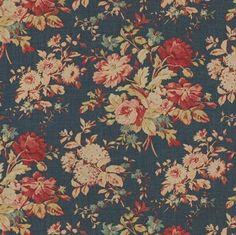 ralph lauren hither hills fabric pinterest | Newbury Floral Blue. Ralph Lauren. You can have signature Ralph Lauren ...