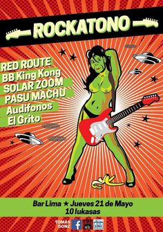 Afiche para Rockatono!! por Capitan Porrito #Rockatono #CapitanPorrito