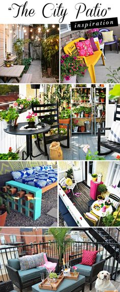 Inspirations for small city patios and urban areas