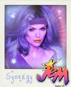 Jem And The Holograms Celebrity Mock Ups - Michelle Pffeifer