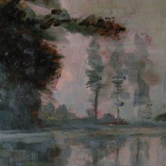 Peinture ancienne paysage près de Barbizon