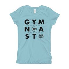 96780429c2 Girl s Gymnastics T-Shirt - Gymnast For Life by EnvisionCreative on Etsy Gymnastics  Quotes